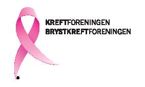 Logo til samarbeidspartner for Rosa sløyfe-løpet Kreft og Brystkreftforeningen logo