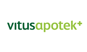 Logo til samarbeidspartner for Rosa sløyfe-løpet, VitusApotek logo