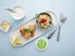 bilde av laks, ris, sitron og Drømmelett